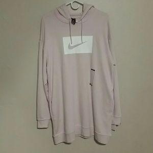 Nike pink sweater dress